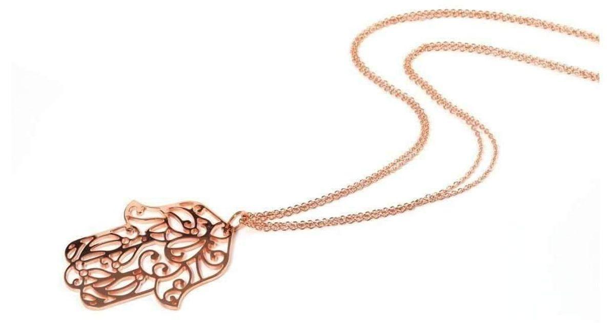 Rina Limor Sunrise Hamsa Pendant Necklace Ste34IyTy
