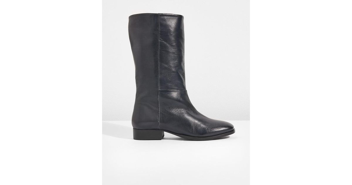 7528ee6c8c86 Jigsaw Kanon Mid Leg Boot in Black - Save 70% - Lyst