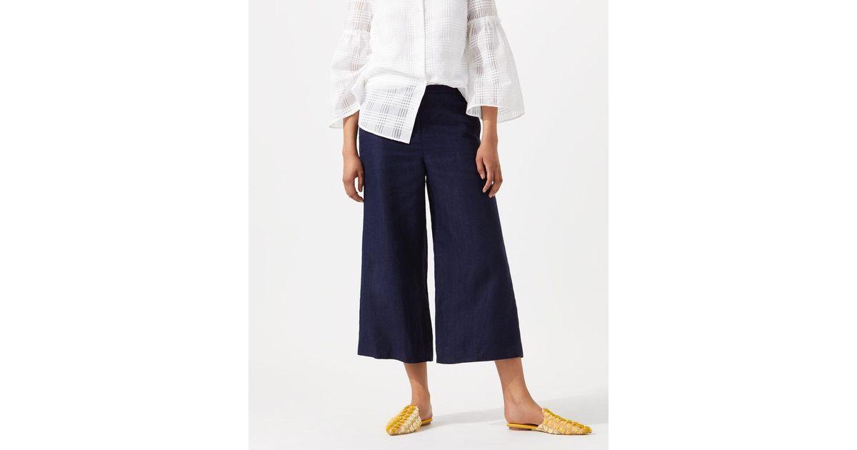 Fake Cheap Sale Nicekicks Linen Wide Crop Trousers Jigsaw Official Cheap Price DIzgg8kVeo
