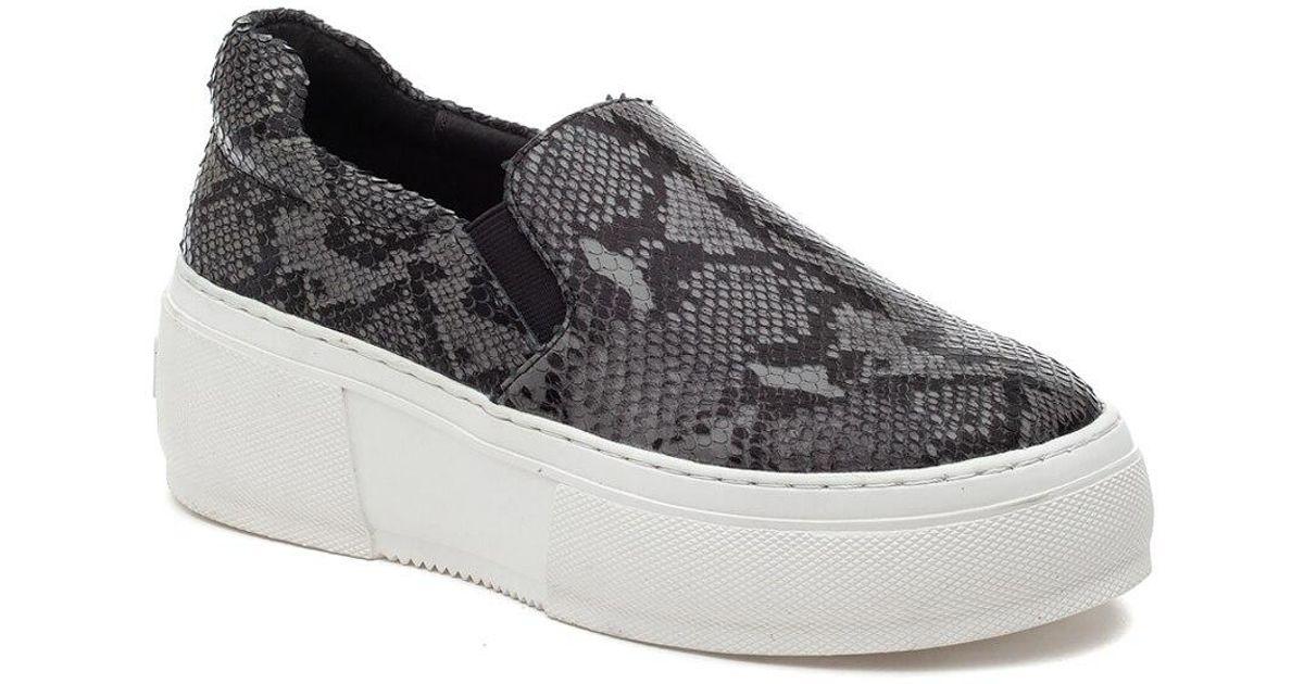 J/Slides Leather Cleo Sneaker Black