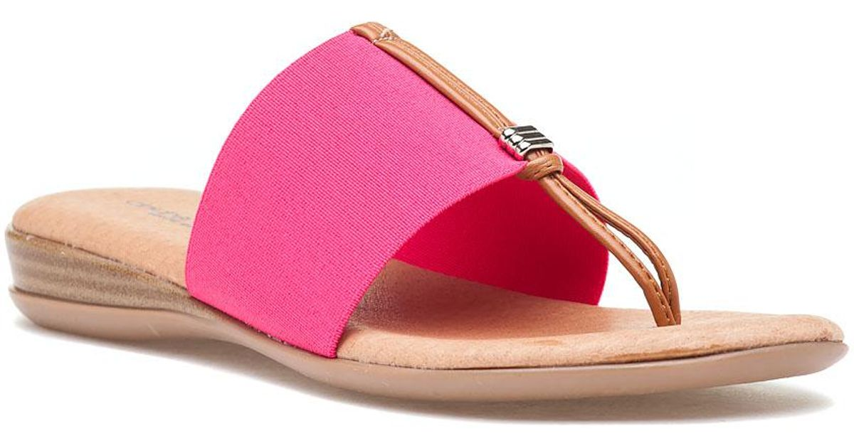 c1e0f63fb922 Lyst - Andre Assous Nice Thong Sandal Fuchsia in Pink