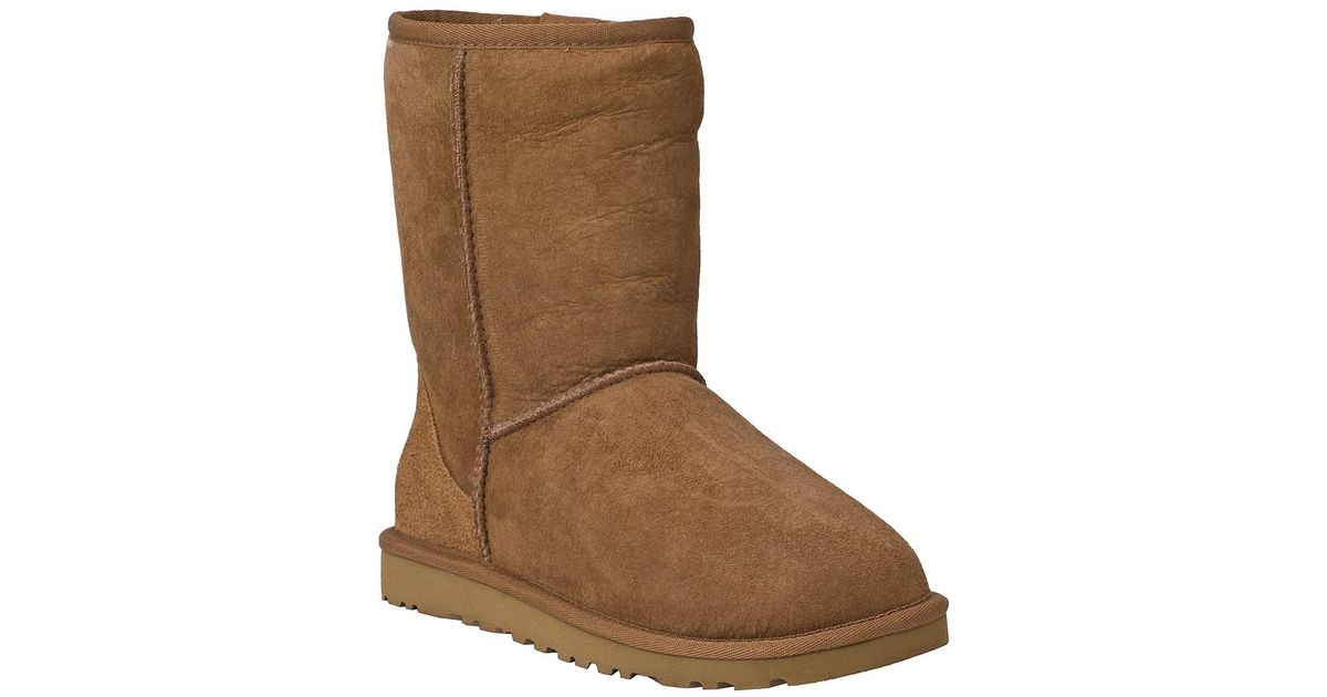 ed1dd005047 Ugg - Brown Classic Short Boot Chestnut Suede - Lyst