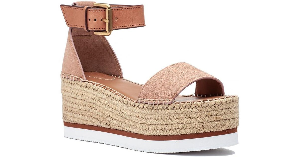 71f3c73dafd See By Chloé Glyn Espadrille Sandal Nude in Natural - Lyst