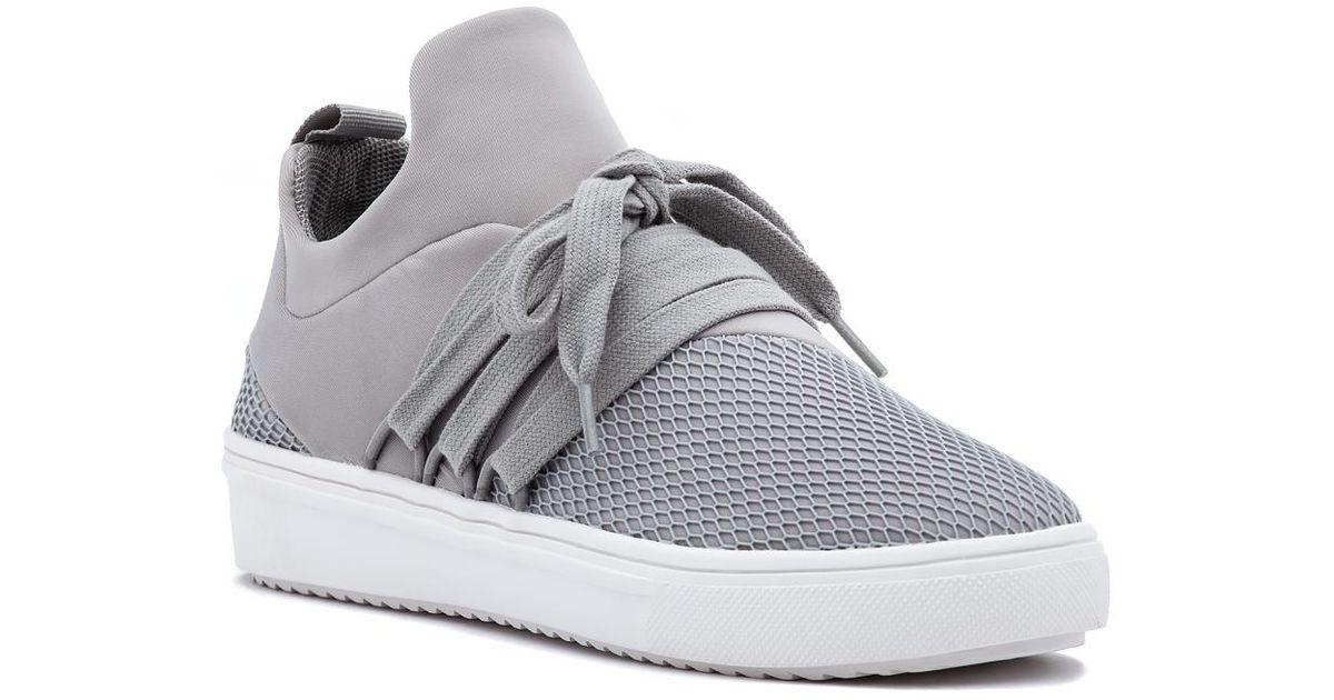 Steve Madden Lancer Sneaker Grey Fabric