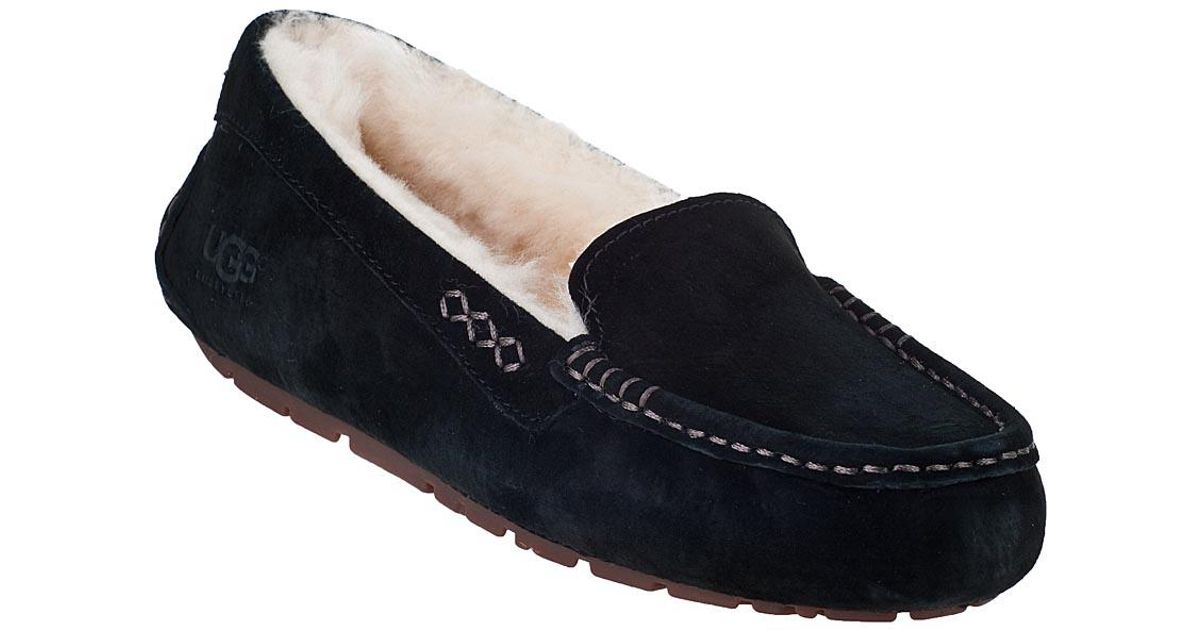 bbba655fd0e Ugg Ansley Slipper Black Suede