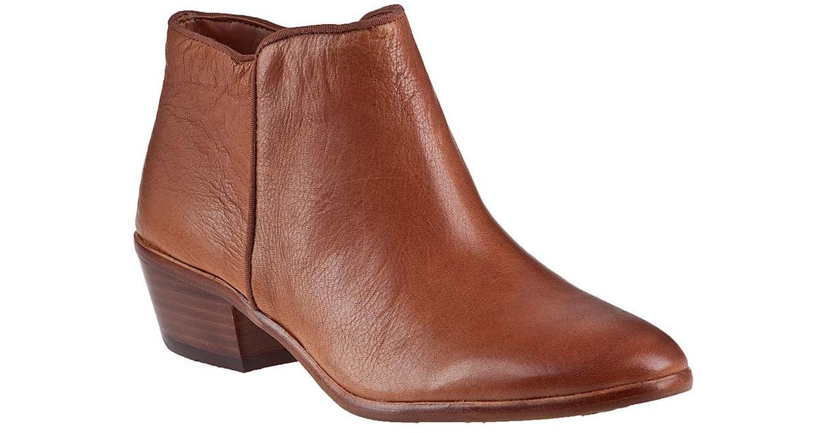 d02b45809c5f22 Lyst - Sam Edelman Petty Ankle Boot Saddle Leather in Brown