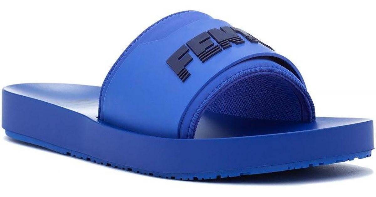 6b93818143df63 Puma Fenty X Puma Surf Slide Blue Evening in Blue - Lyst