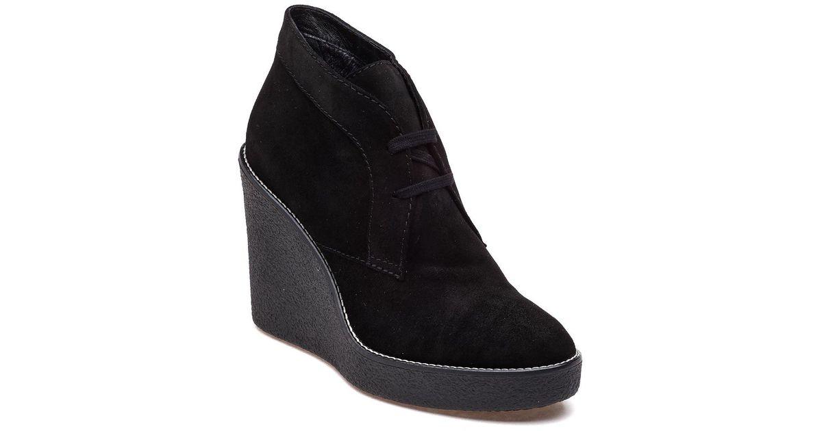 44fd150ec601 Lyst - Aquatalia Vianna Black Suede Bootie in Black