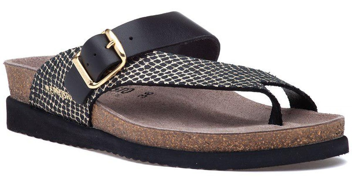 730e3ac82b Mephisto Helen Mix Sandal Black Leather in Black - Lyst