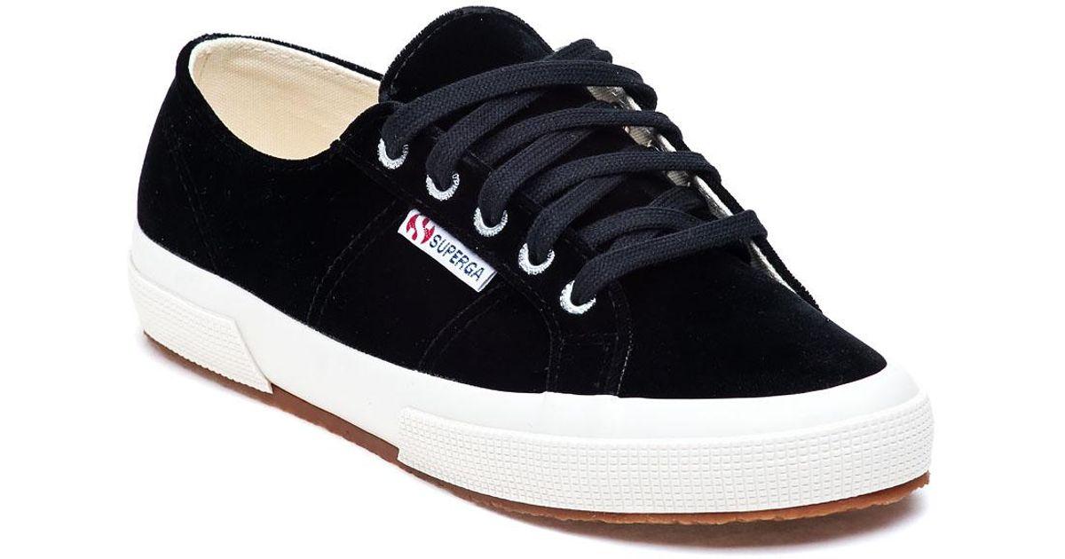 d2a57b4c99ed Superga 2750 Black Velvet Sneaker in Black - Lyst