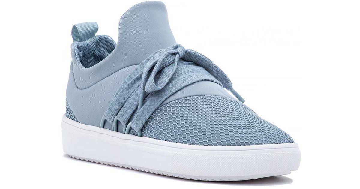 a19b42e77a3 Lyst - Steve Madden Lancer Sneaker Light Blue Fabric in Blue