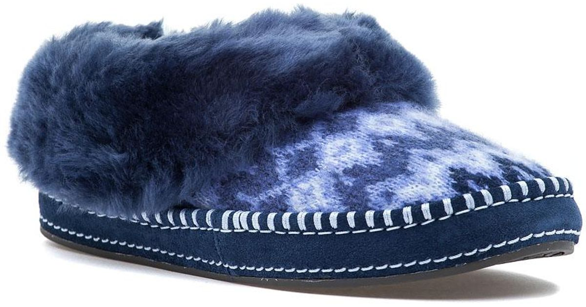 6e1ccee1c UGG Wrin Icelandic Navy Fabric Slipper in Blue - Lyst