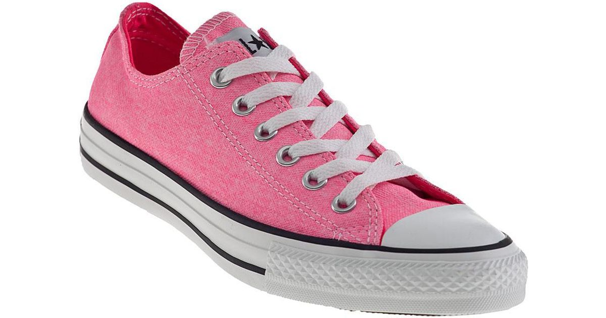 58def37e6ba7 Lyst - Converse Chuck Taylor All Star Sneakers Neon Pink Canvas in Black