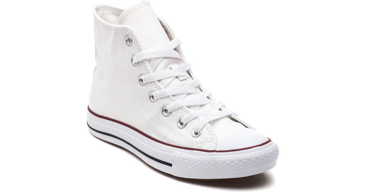 bf71b34f4353 Lyst - Converse Chuck Taylor All-star Hi-top Sneaker Optical White in Black