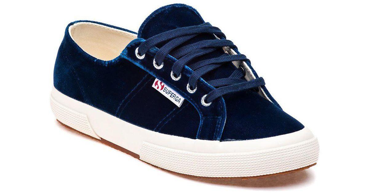 blue velvet sneakers