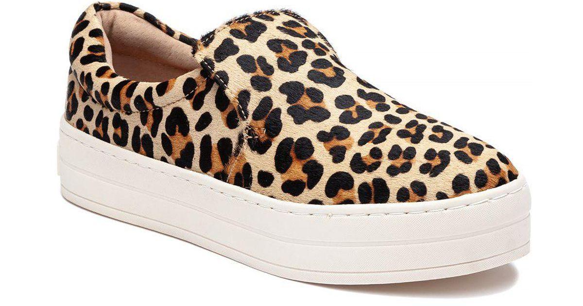 79994eb8d895 Lyst - J Slides Harry Sneaker Leopard Pony Hair