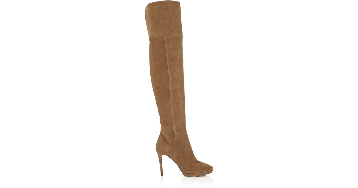 a716bf13fe6 Lyst - Jimmy Choo  hayley 100  Boots in Brown