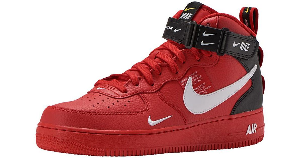 new style e7495 d0c85 Nike Red Af1 Mid 07 Lv8 for men