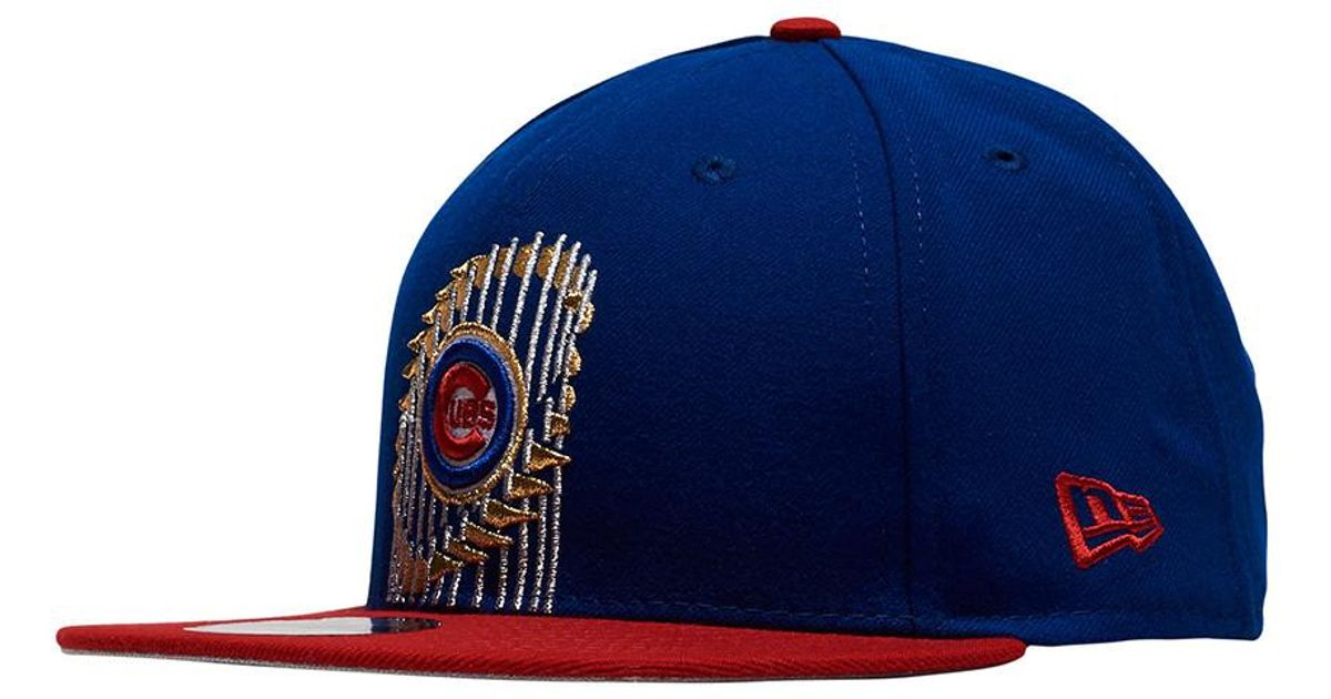 Ktz Chicago Cubs World Series Snapback Hat in Blue for Men - Lyst 80caffd1566