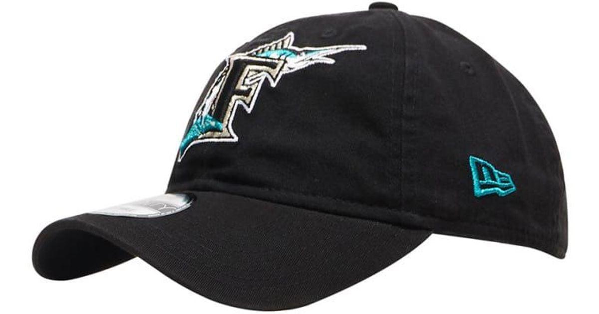 c6d6b0078bd62 Lyst - KTZ Florida Marlins 9twenty Hat in Black for Men