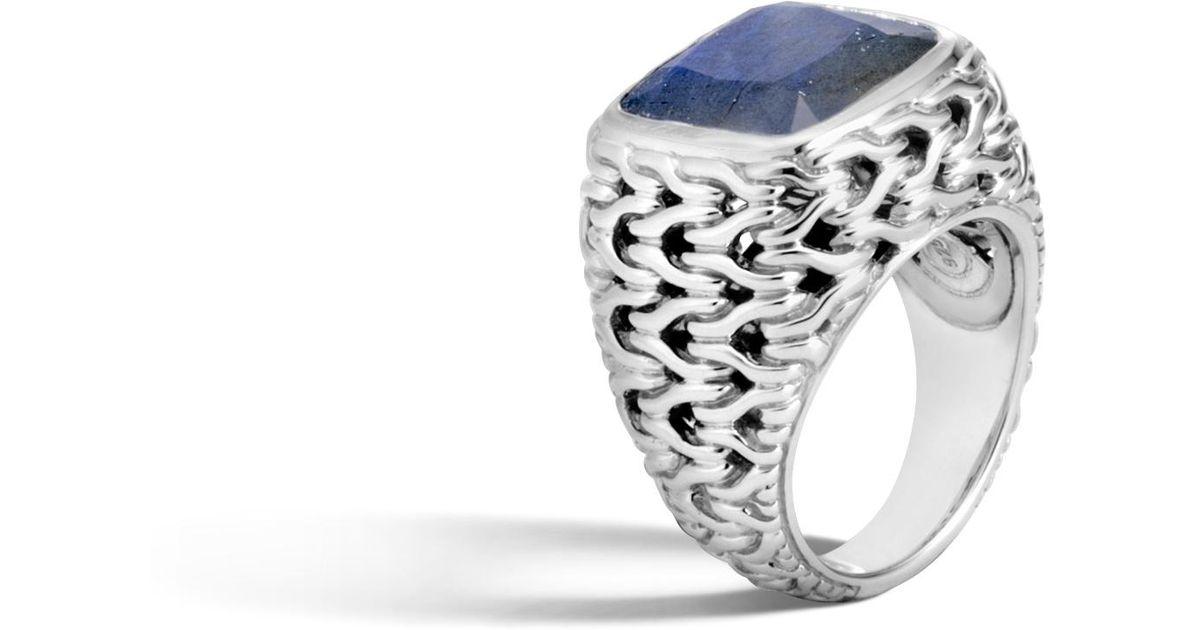 John Hardy Magic Cut Ring In Silver With Labradorite PzqB8