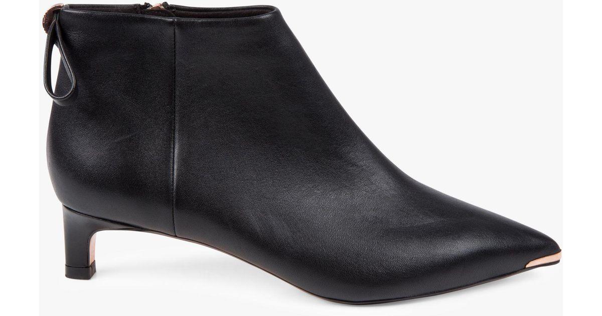 c534b3c5f Ted Baker Amaedi Kitten Heel Ankle Boots in Black - Lyst