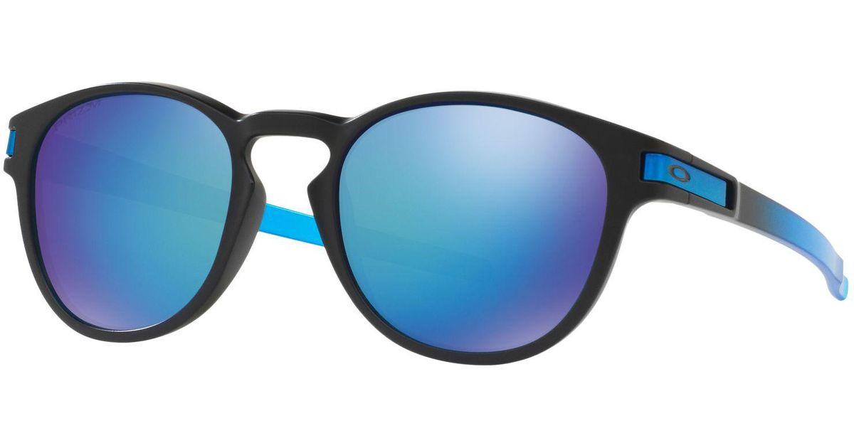 efad43e79a2 Oakley Oo9265 Latch Polarised Round Sunglasses in Blue for Men - Lyst
