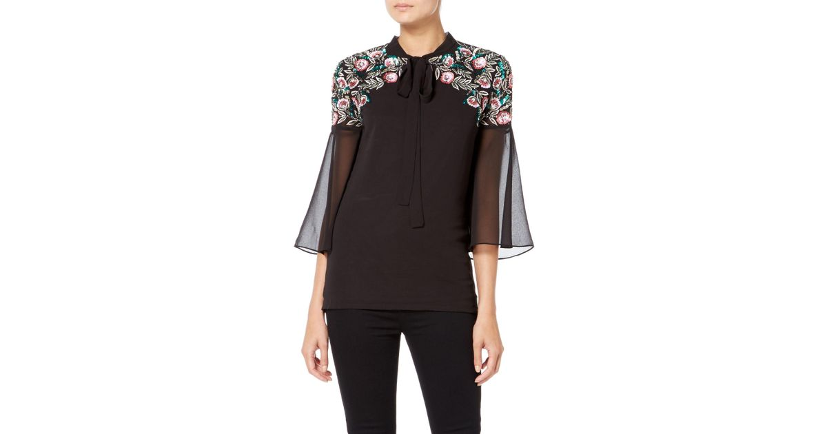 5f744270cd7 Raishma Boho Sequin Shirt in Black - Lyst
