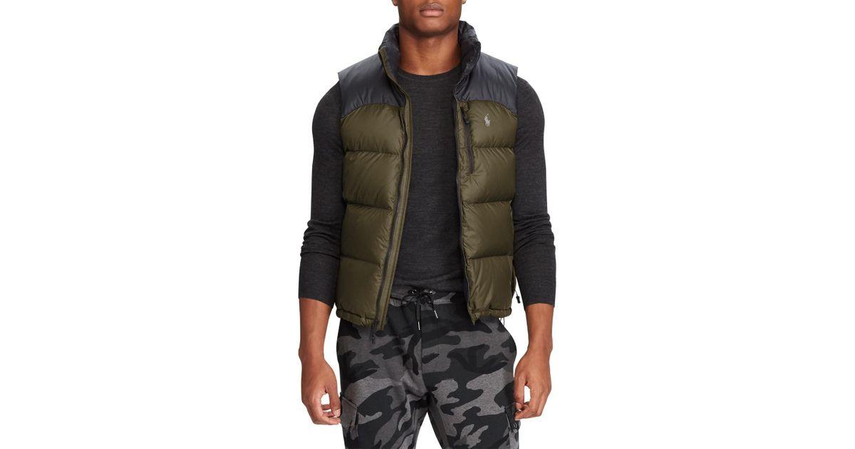 b29b42018 Ralph Lauren Green Polo El Cap Fill Vest for men