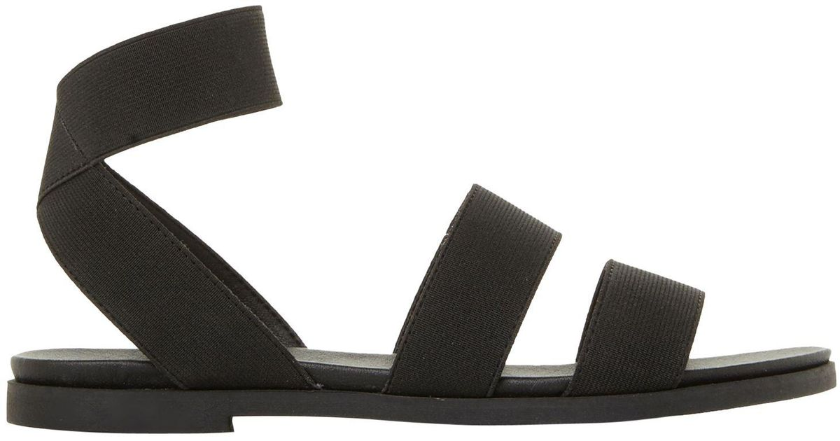 401247e0e46 Steve Madden Black Delicious Strappy Flat Sandals