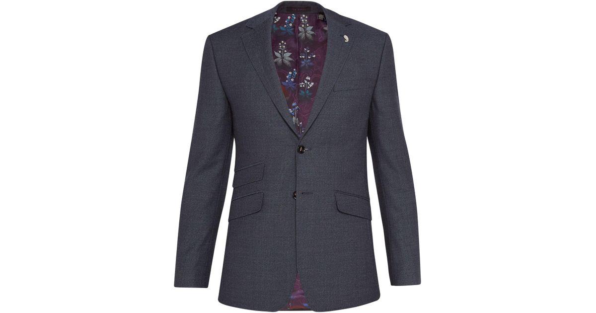 d5f6fd2fd33e Ted Baker Annetoj Semi Plain Wool Tailored Suit Jacket in Blue for Men -  Lyst