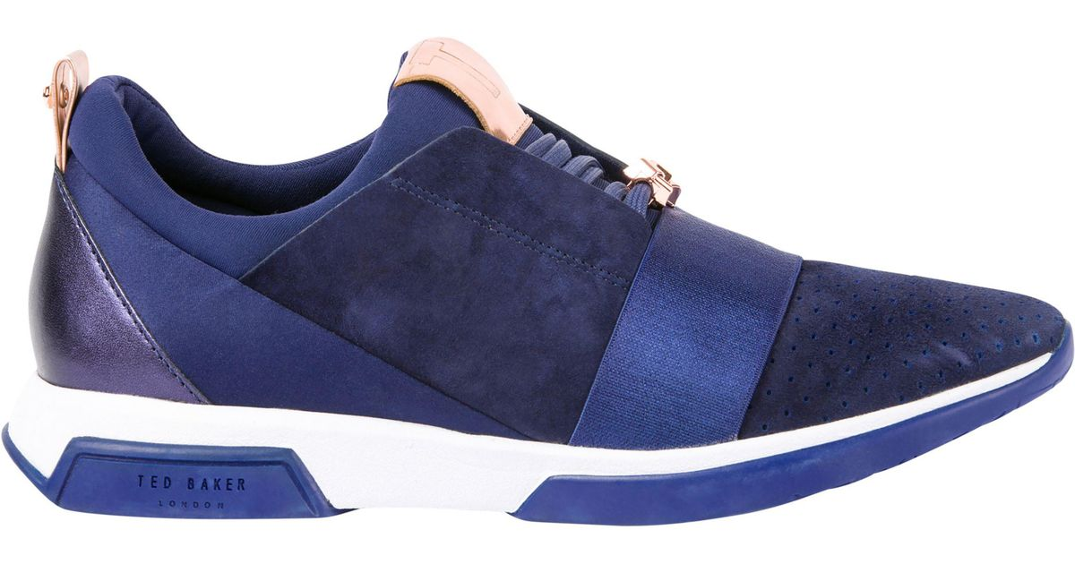 Ted Baker Denim Cepap Lace Up Trainers
