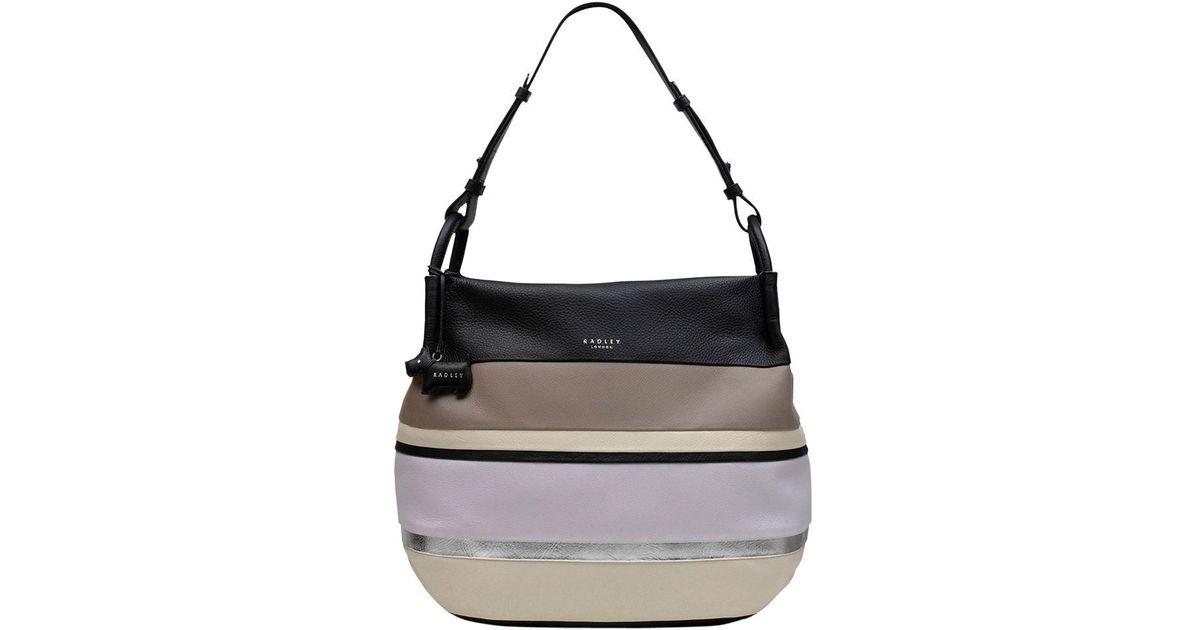 0a414806ec52 Radley Chartwell Leather Medium Hobo Bag in Black - Lyst
