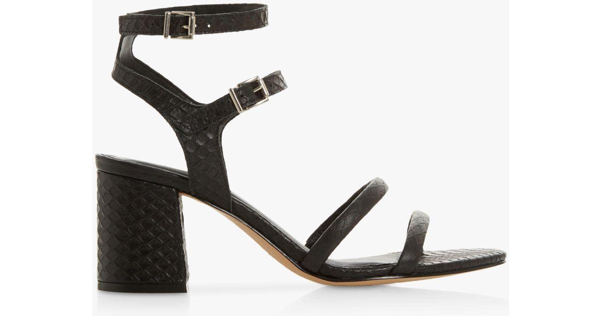 ca62ed3c96 Dune Magnaa Block Heel Sandals in Black - Lyst