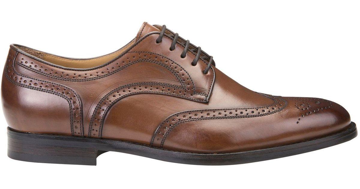 anfitriona Distribución Malversar  Geox Leather Hampstead Derby Brogues in Cognac (Brown) for Men - Lyst