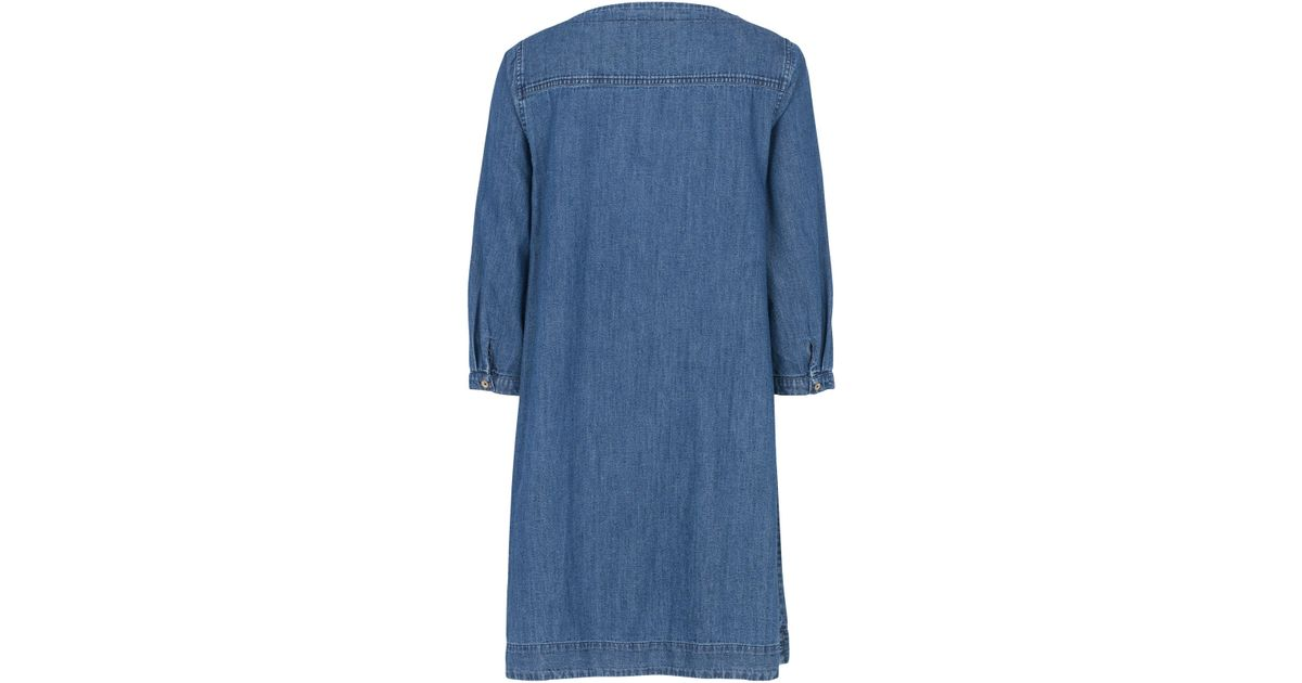 5fb1b49f8ec John Lewis Fat Face Livvy Chambray Shift Dress in Blue - Lyst
