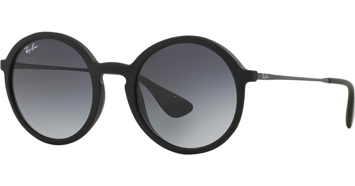 b208a4e5aa Ray-Ban Rb4222 Oval Sunglasses in Black for Men - Lyst