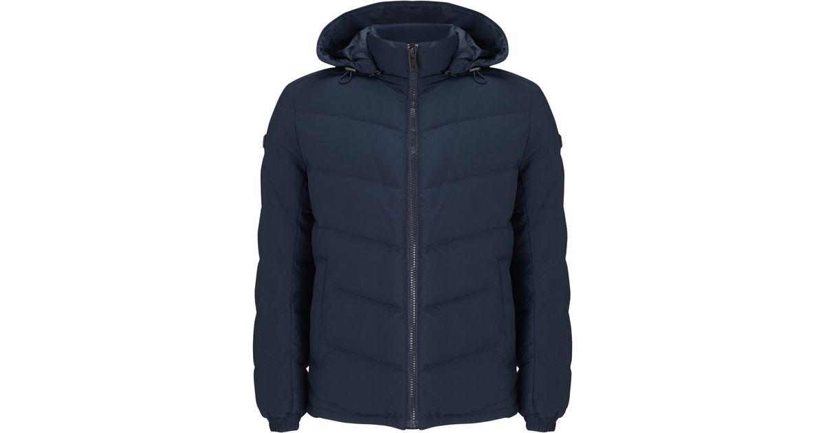 14acca47dd2e BOSS Boss Orange Owillem Down Jacket in Blue for Men - Lyst