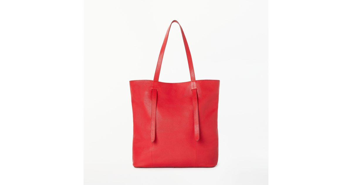 bef86f77906 John Lewis Cecilia Leather North south Tote Bag in Red - Lyst