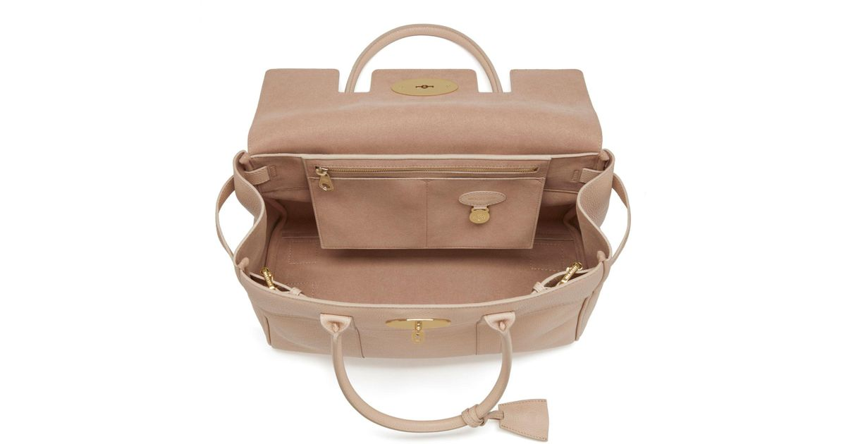 ... greece john lewis mulberry bayswater small classic grain leather grab  bag lyst 3ce71 c9a83 841972de78206