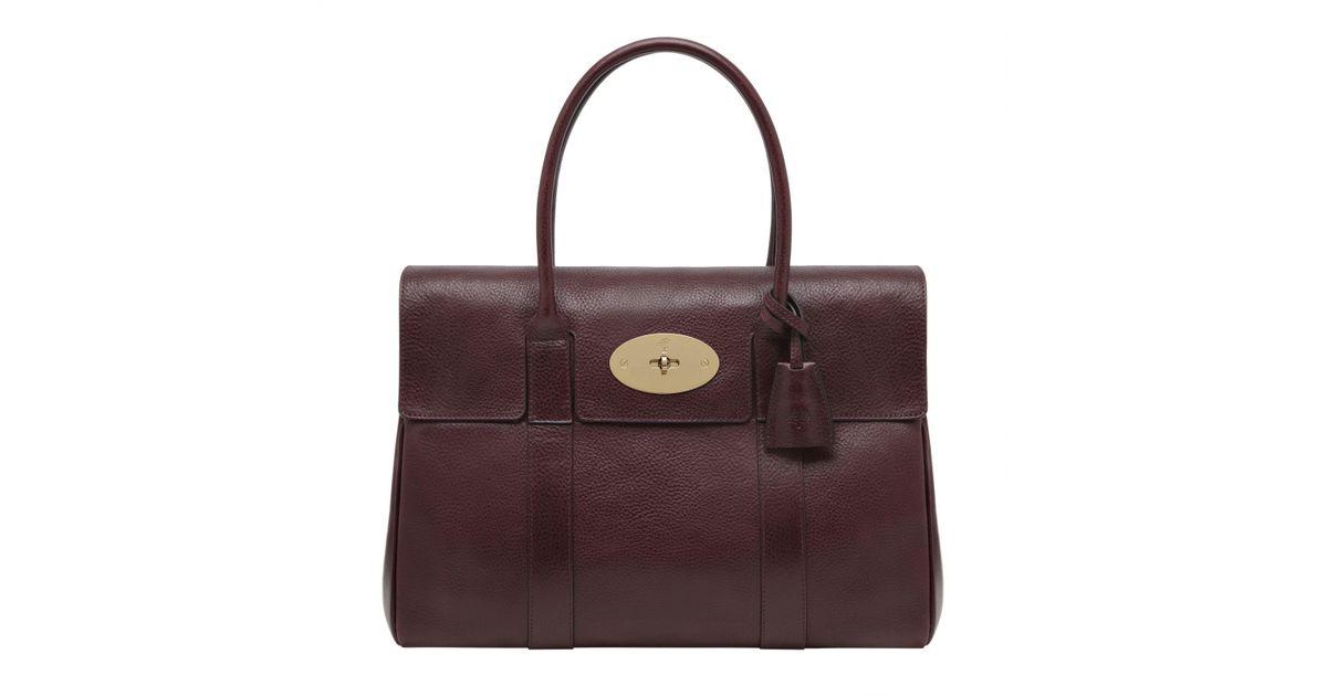 aeebf49cfde3 John Lewis Mulberry Bayswater Coloured Veg Tanned Leather Grab Bag - Lyst