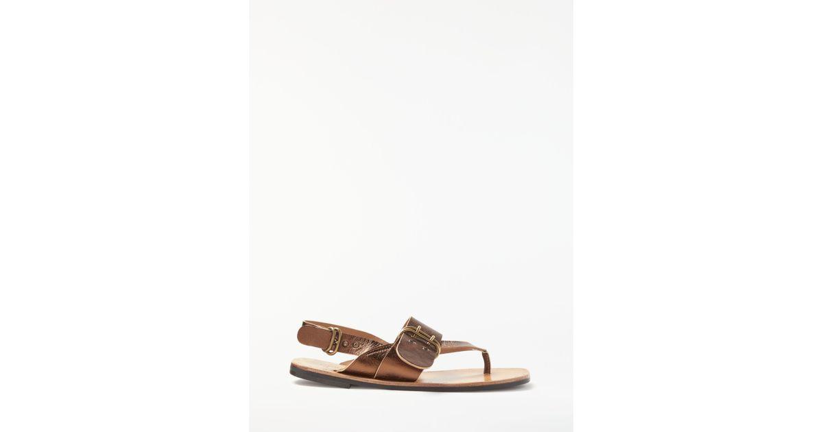 665d025b9c79 Modern Rarity Mona Toe Post Sandals in Brown - Lyst