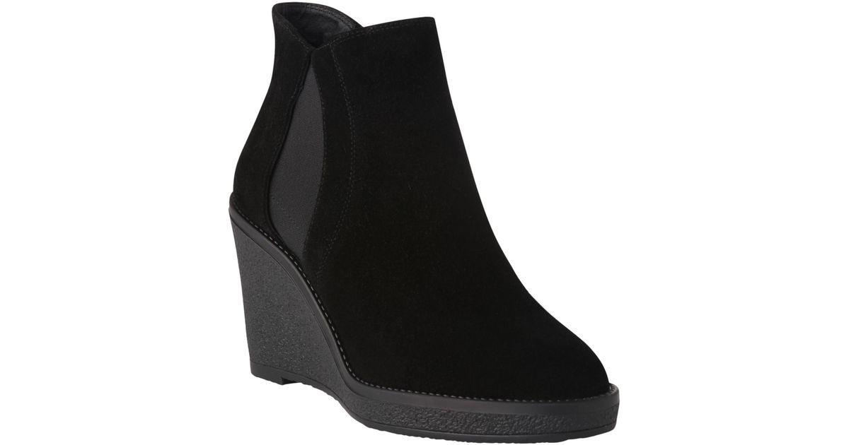 bac59ad5bd1 L.K.Bennett L.k. Bennett Josephine Suede Wedge Boots in Black - Lyst