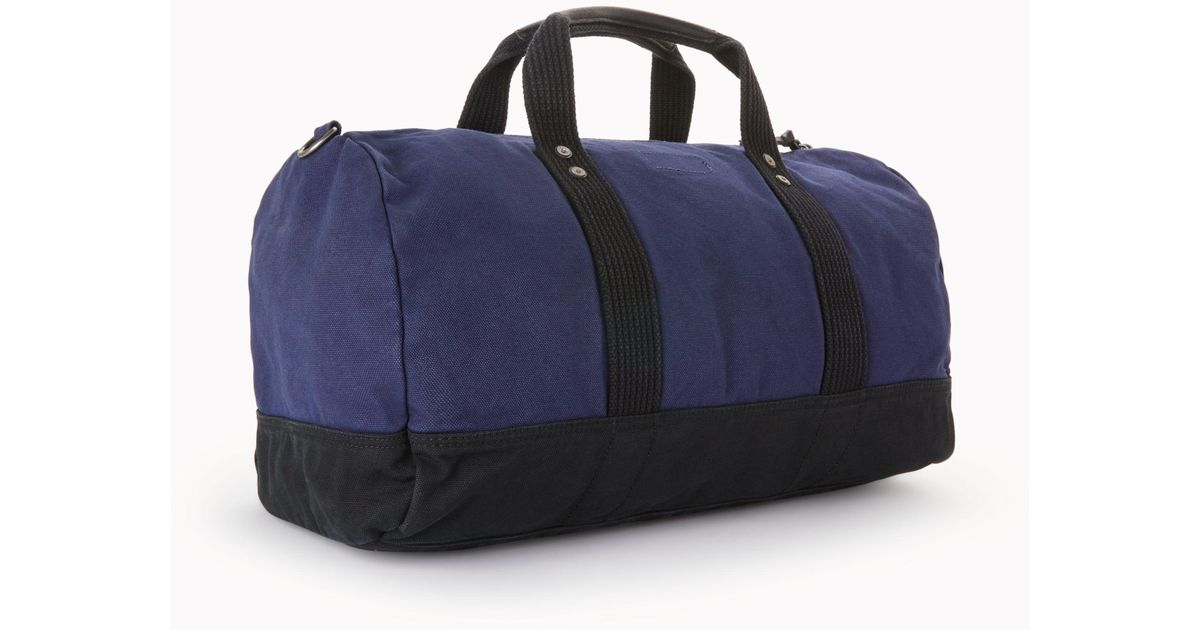 ... closeout john lewis polo ralph lauren canvas big pony duffle bag in  blue for men lyst ... ad60addca8bf1