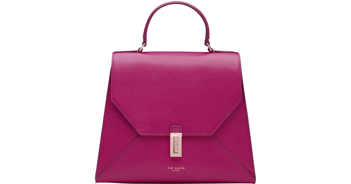 48a1105a2ce Ted Baker Ellice Leather Top Handle Grab Bag in Purple - Lyst