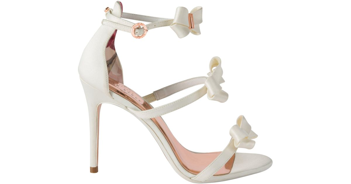 5b35150ce694 Ted Baker Nuscala Ankle Strap Sandals in White - Lyst