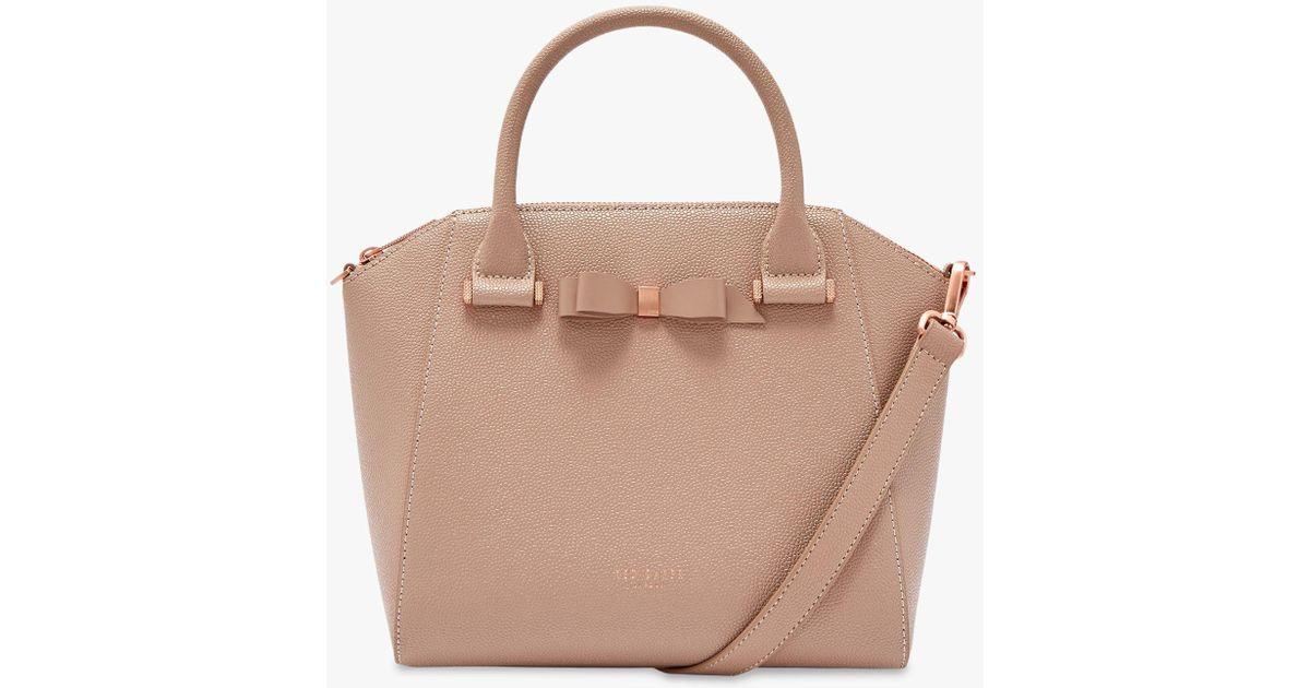 fd323b8db6 Ted Baker Janne Bow Leather Tote Bag in Brown - Lyst