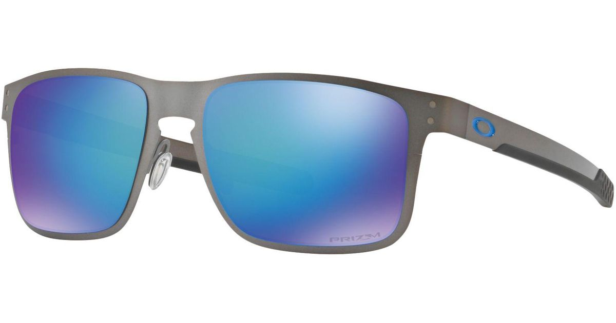 b27fab0624 Oakley Oo4123 55 Holbrook Metal Prizm in Blue for Men - Lyst