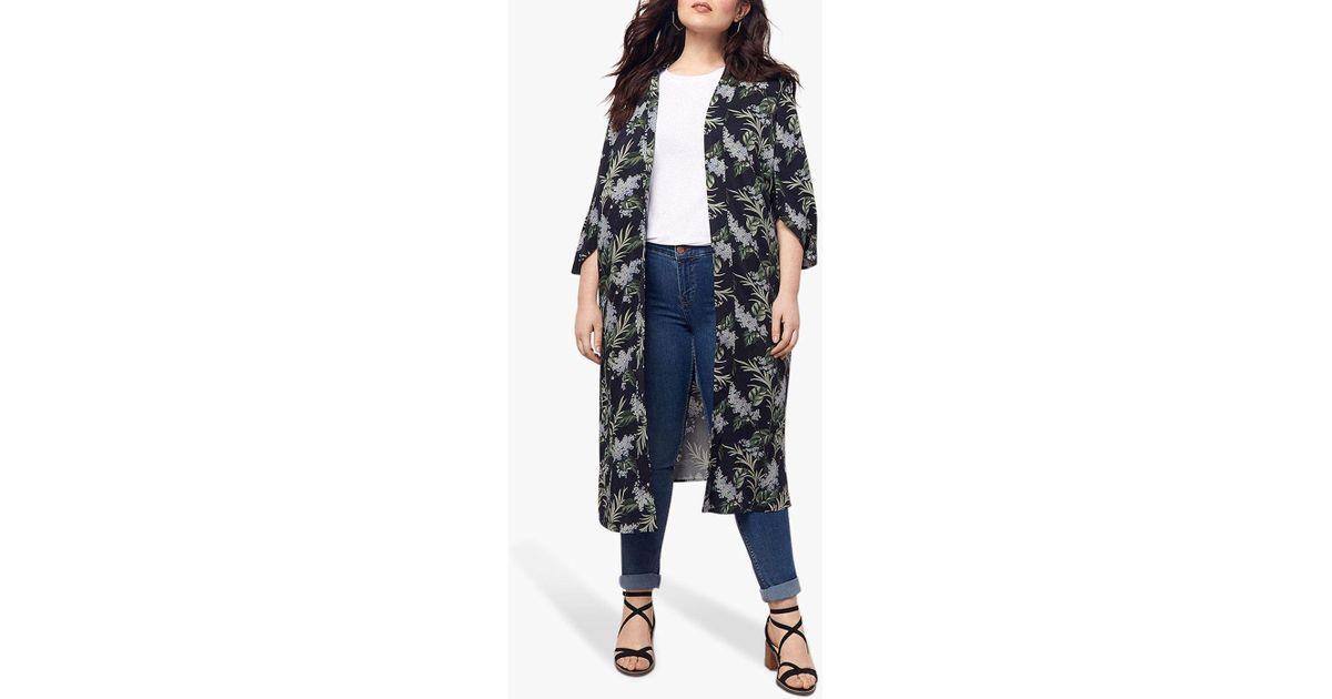 78005b9d6037 Oasis Delray Longline Kimono in Blue - Save 28% - Lyst