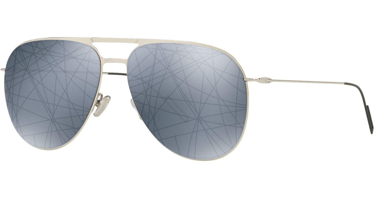 95772885bfd2 Dior 0205s Aviator Sunglasses in Metallic for Men - Lyst